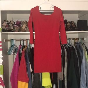 Off shoulder red club/party dress